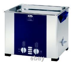 ELMA S100H 2.5 Gal. Heated Ultrasonic Cleaner, 37kHz, 11.8 x 9.4 x 5.9, 1007152