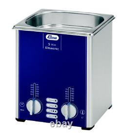 ELMA S30H 0.75 Gal. Heated Ultrasonic Cleaner, 37kHz, 11.8 x 5.9 x 5.9, 1007141