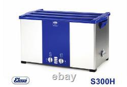 Elmasonic S300 H Ultrasonic Cleaner With Heating 28 Ltr. Ultrasonic Bath Of Elma