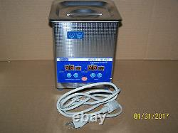 Eumax 2 Quart Digital Ultrasonic Cleaner With Heat-stainless Tank And Lid-new