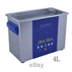 Eumax Ultrasonic cleaner 4L-3x 50watt transducer & heating & digital LED panel