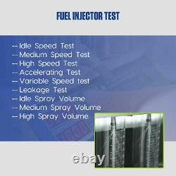 Fuel Injector Cleaner Tester Heating Ultrasonic Cleaner Car Motorcycle US Stock
