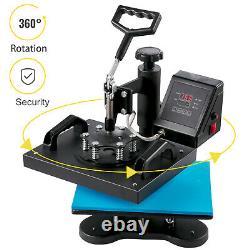 Heat Press 12 x 10 T-Shirts Sublimation Transfer Machine 360 Degree Swing Away