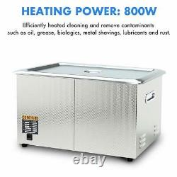 Industrial Grade Ultrasonic Cleaner 30L Large Capacity with 800W Heating Power