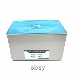 KAY Stainless Steel 30 L Industry Heated 110V Ultrasonic Cleaner Heater withTimer