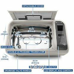 LifeBasis Ultrasonic Cleaner 6L CD-4862 Vinyl Record Washer 35kHZ 160W Heated