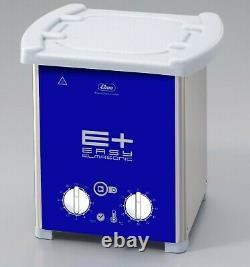 NEW! ELMA EP20H PLUS Heated 0.5Gal Ultrasonic Cleaner 37kHz Pulse Freq 107 1653
