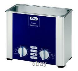 NEW! ELMA S10H 1/4 Gal. Heated Ultrasonic Cleaner, 37kHz, 7.5 X 3.3, 1007137
