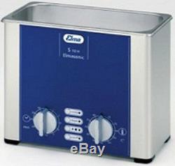 NEW Elma Elmasonic S10H 0.8 Liter Heated Ultrasonic Cleaner And Basket