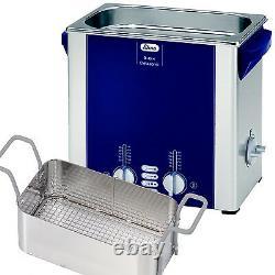 NEW! Elma S40H 1 Gal Ultrasonic Cleaner, Digital+Timer+Heat+Degassing+Basket