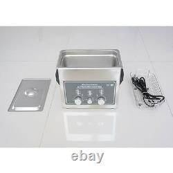 NZL New 220V Stainless Steel 3L Industry Heated Ultrasonic Cleaner Heater Timer