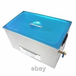 NZL Stainless Steel 30L Liter Heated 220V Ultrasonic Cleaner Heater Basket Timer