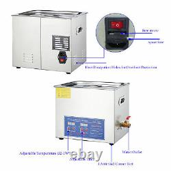 New 10L Ultrasonic Cleaner 304 Stainless Steel Industry Heated Heater withTimer
