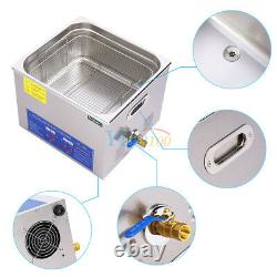 New 15L Ultrasonic Cleaner Stainless Steel Industry Heated Heater with Timer USA