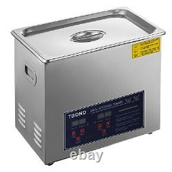 New 15L Ultrasonic Cleaner Stainless Steel Industry Heated Heater withTimer