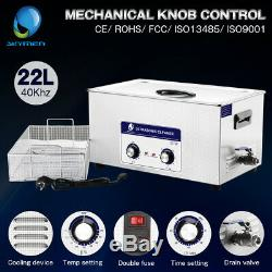 New 22L Ultrasonic Cleaner Stainless Steel Industry Heated Heater withTimer