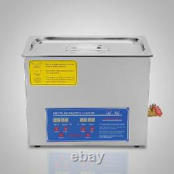 New 6L Ultrasonic Cleaner Stainless Steel Industry Heated Heater withTimer