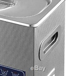 New Digital 6L Stainless Steel Ultrasonic Cleaner Industry Heated Heater withTimer