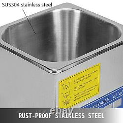 New Stainless Steel 10 L Liter Industry Heated Ultrasonic Cleaner Heater withTimer