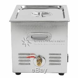 New Stainless Steel 10L Industry Heated Ultrasonic Cleaner Heater withTimer New