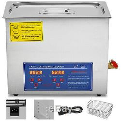 New Stainless Steel 15 L Liter Industry Heated Ultrasonic Cleaner Heater withTimer