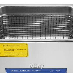 New Stainless Steel 22L Liter Industry Heated Ultrasonic Cleaner Heater withTimer
