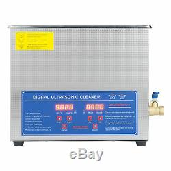 New Stainless Steel 6L Liter Industry Heated Ultrasonic Cleaner Heater withTimer