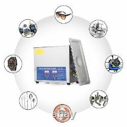 Preenex 6L 1.6Gal Ultrasonic Cleaner, 180W Ultrasonic Power, 200W Heating Power