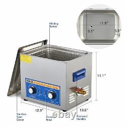 Professional Digital Ultrasonic Cleaner Machine with Timer Heated Cleaning 10L