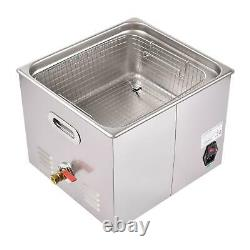 Professional Digital Ultrasonic Cleaner Machine with Timer Heated Cleaning 15L