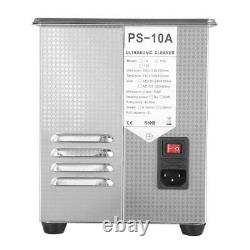 Professional Digital Ultrasonic Cleaner Machine with Timer Heated Cleaning 2/3L