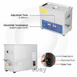 Professional Digital Ultrasonic Cleaner Machine with Timer Heated Cleaning 6L US