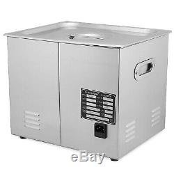 Stainless Steel 10L Industry Heated Ultrasonic Cleaner Heater withTimer Updated