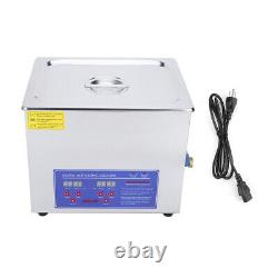 Stainless Steel 10L Industry Heated Ultrasonic Cleaner Heating Heater withTimer
