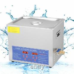 Stainless Steel 10L Industry Heated Ultrasonic Cleaner Industry Heater with Timer