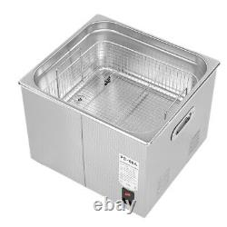 Stainless Steel 15 L Digital Industrial Heated Ultrasonic Cleaner Tank with Timer