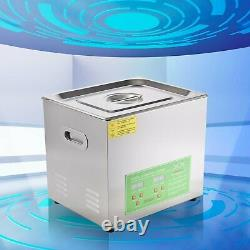 Stainless Steel 2L-15L Liter Industry Ultrasonic Cleaner Heated Heater withTimer