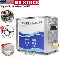 Stainless Steel Ultrasonic Cleaner Liter Heated Heater withTimer Machine 2L-30L US