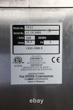 Steris Caviwave CAVI-20W-E Heated Ultrasonic Cleaner Tested with Warranty