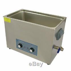 Ultrasonic Cleaner 27 Litre Large Dial Tank Heated Industrial Ultrasonic Bath