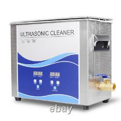 Ultrasonic Cleaner 6.5L 180With300W Heating Bath For Metal Hardware Fuel Injector
