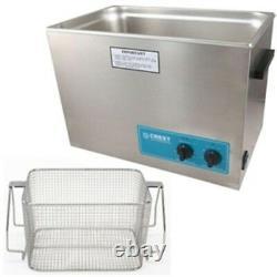 Ultrasonic Cleaner-Heat & Timer-Mesh Basket Crest P1800H-45