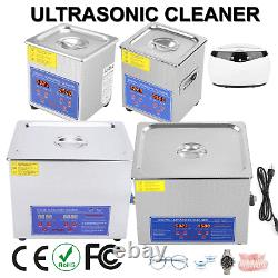 Ultrasonic Cleaner Industry Heated Heater withTimer Jewelry Glasses 650ml-15L