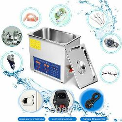 Ultrasonic Cleaner Stainless Steel 15L Industry Heated Heater with Timer Power