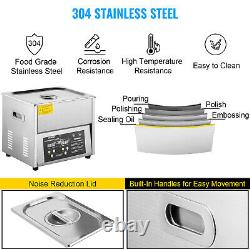 VEVOR 10L Ultrasonic Cleaner Cleaning Equipment Industry Heated With Timer Heater