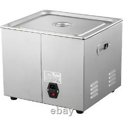 VEVOR 15L Ultrasonic Cleaner Stainless Steel 600W Jewelry Heated Cleaner withTimer