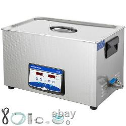 VEVOR 22L Ultrasonic Cleaner 480/500W Jewelry Glasses Degas Clean Heated withTimer