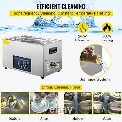 VEVOR 30L Ultrasonic Cleaner 28/40kHz Jewelry Cleaning Industry Heated With Timer