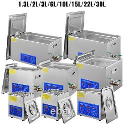 VEVOR 30L Ultrasonic Cleaner Cleaning Equipment Liter Industry Heated With Timer