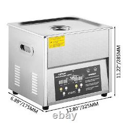 VEVOR 6L Ultrasonic Cleaner Cleaning Equipment Industry Heated With Timer Heater